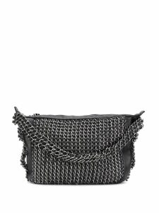 Chanel Pre-Owned all-over chain embellished tote bag - Black