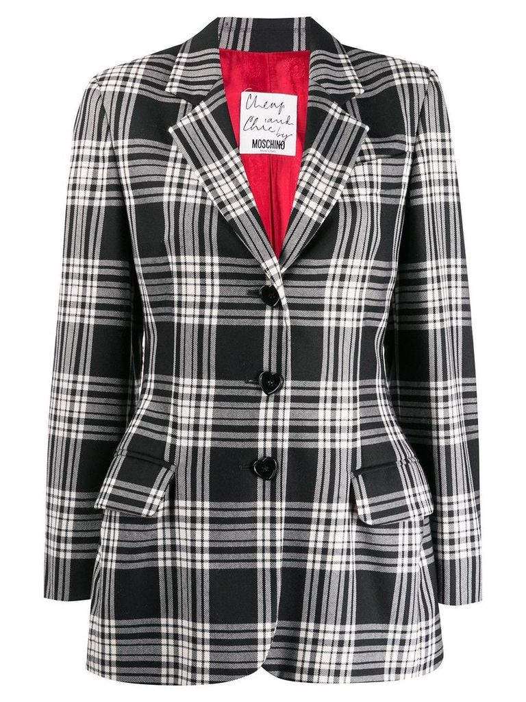 Moschino Vintage 2000'2 checked blazer - Black