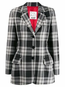 MOSCHINO PRE-OWNED 2000'2 checked blazer - Black