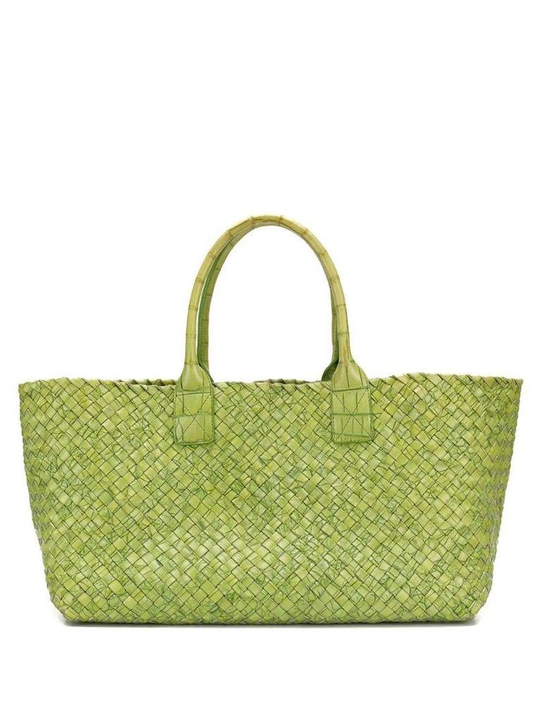 Bottega Veneta Vintage Cabat intrecciato tote bag - Green