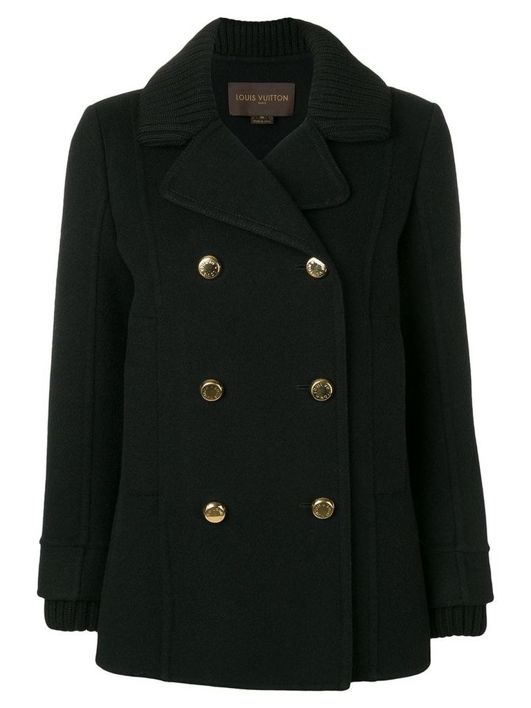 Louis Vuitton Vintage double-breasted pea coat - Black