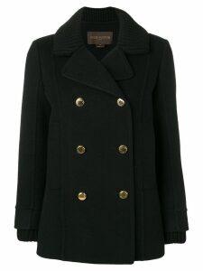 Louis Vuitton Vintage double-breasted pea coat - Black