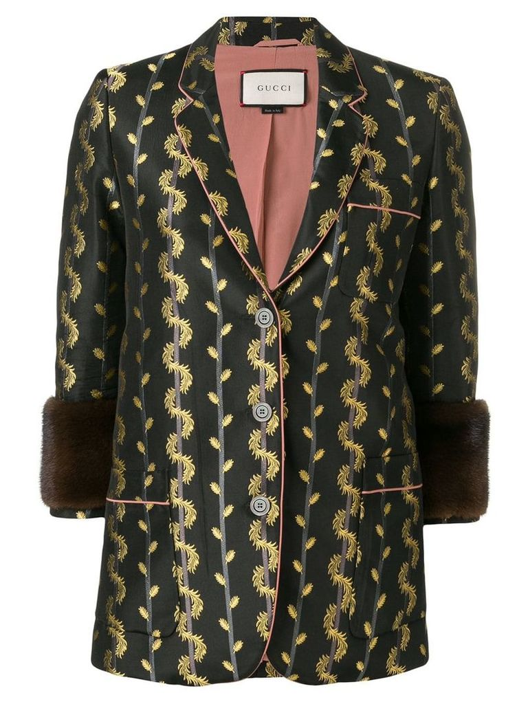 Gucci Vintage metallic detail blazer jacket - Black
