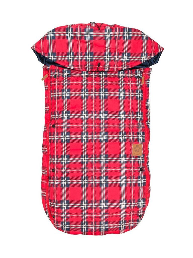 Mini Rodini check sleeping bag - Red
