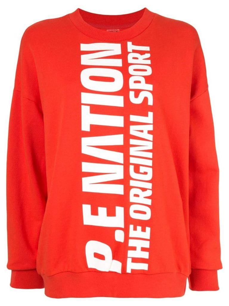 P.E Nation logo long-sleeve sweatshirt - Red