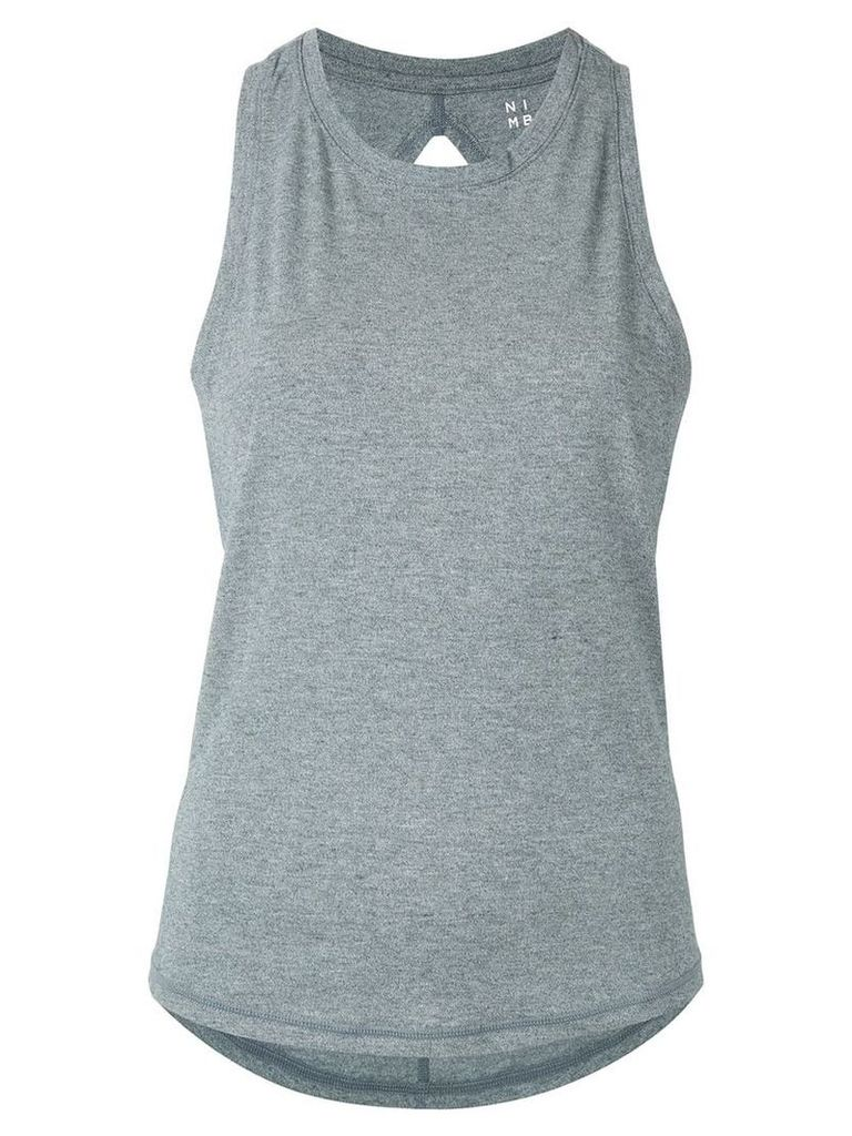 Nimble Activewear double twist back tank top - Grey