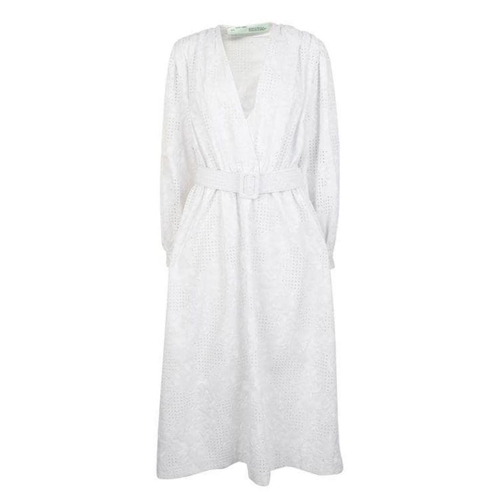 OFF WHITE 80s Midi Dress