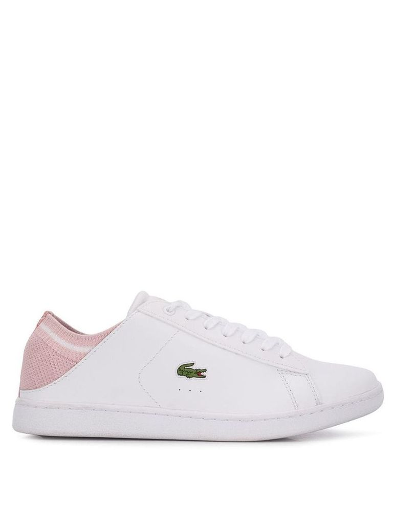 Lacoste logo patch sneakers - White