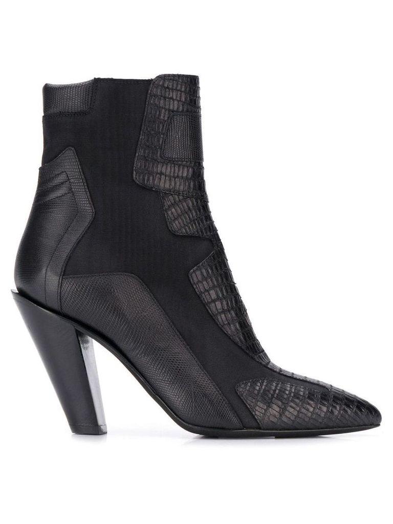 A.F.Vandevorst snakeskin effect ankle boots - Black