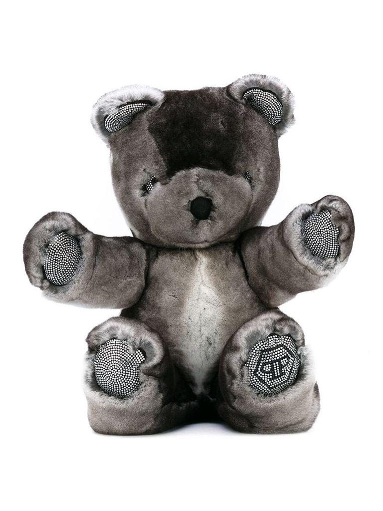 Philipp Plein Junior embellished teddy bear - Grey