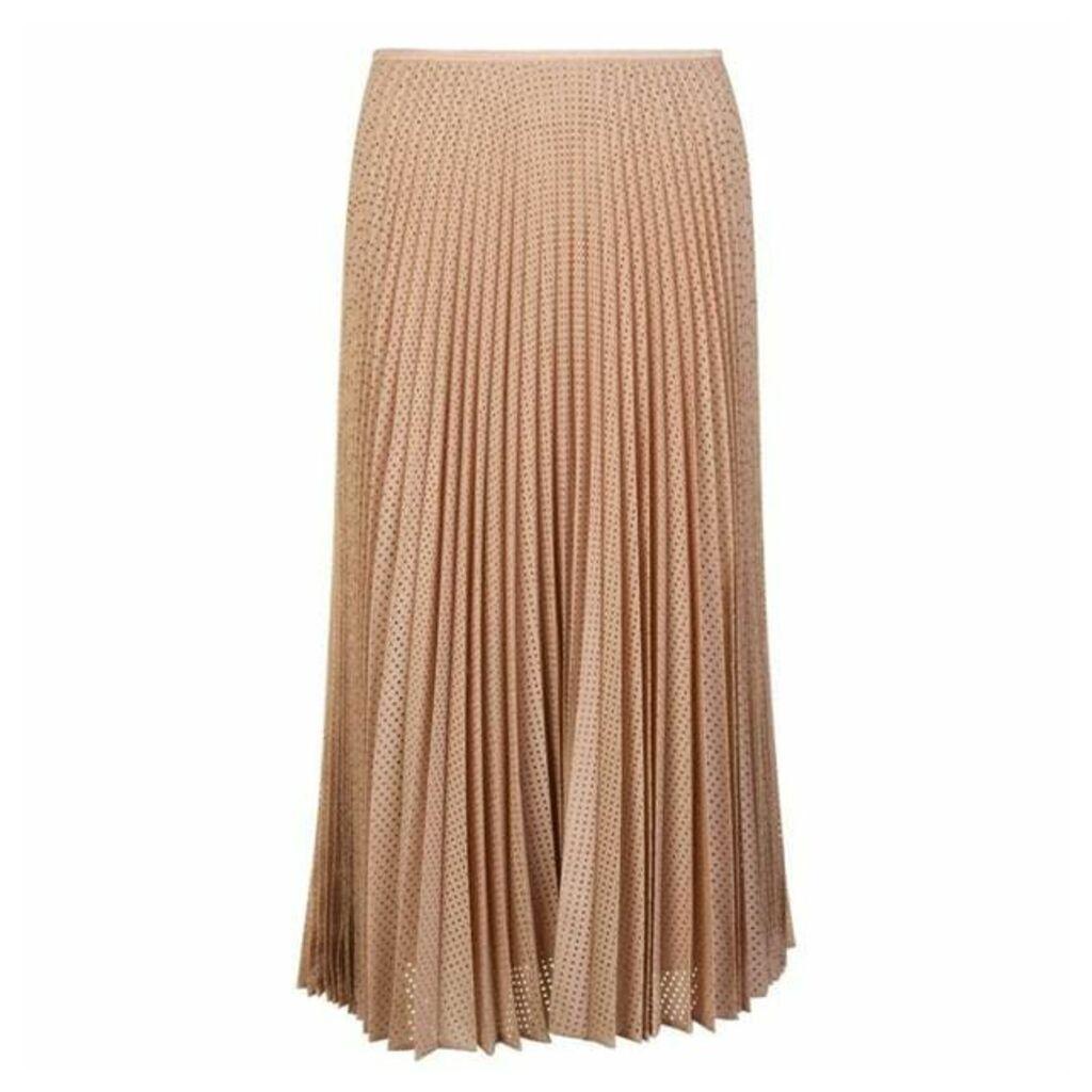 FENDI Mesh Pleated Skirt