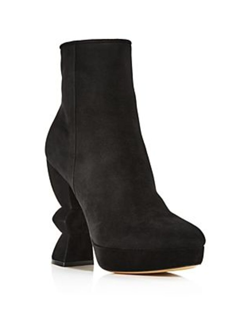 Salvatore Ferragamo Women's Calla Suede High-Heel Platform Boots