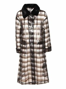 STAND Checkered Print Transparent Coat
