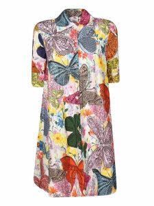 Ultrachic Rainbow Butterfly Print Dress