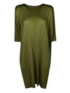Issey Miyake Short -sleeve Shift Dress