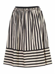 TwinSet Ruched Striped Skirt