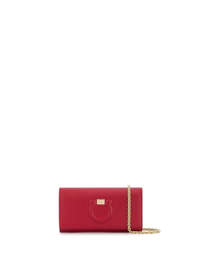 Salvatore Ferragamo Gancini clutch bag - Red