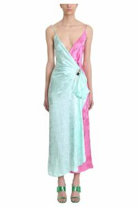 ATTICO Two Tone Jacquard Dress