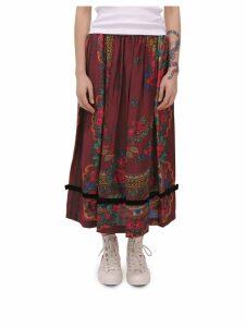 Comme Des Garçons Girl Burgundy And Black Skirt