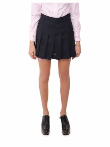 Thom Browne Navy Pleated Skirt