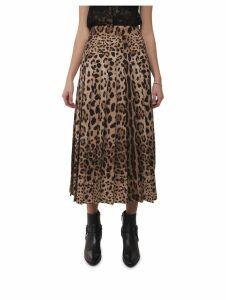 Dolce & Gabbana Animalier Pleated Skirt