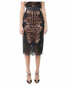 Dolce & Gabbana Animalier Lace Skirt