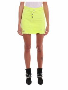 Amiri Neon Yellow Skirt