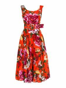 Samantha Sung dress Aster Dress Boat Neck Midi Length Cotton Musola