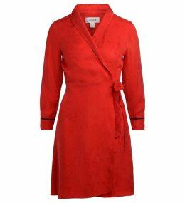 Jovonna Estrada Red Damask Trench Dress
