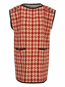 Gucci Gucci Houndstooth Sleeveless Dress