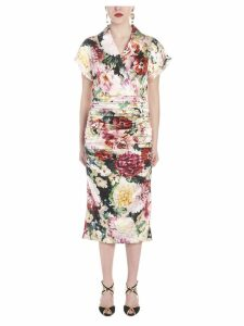 Dolce & Gabbana papaveri E Fiori Dress