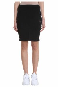Fila Maha Black Cotton Pencil Skirt