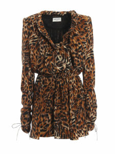 Saint Laurent Leopard Print Dress