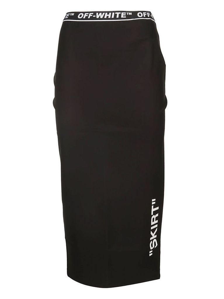 Off-white Long Logo Detail Skirt