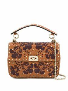 Valentino Valentino Garavani Rockstud quilted patch bag - Brown