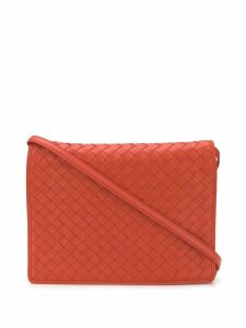 Bottega Veneta Intrecciato crossbody bag - Orange