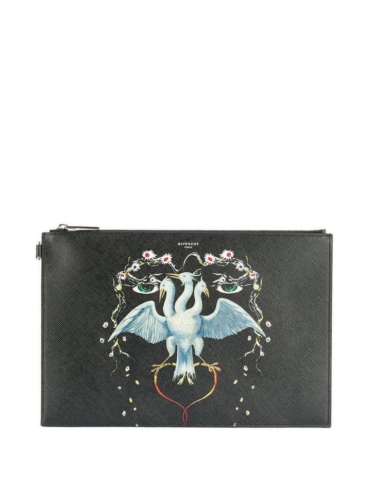 Givenchy bird print clutch - Black