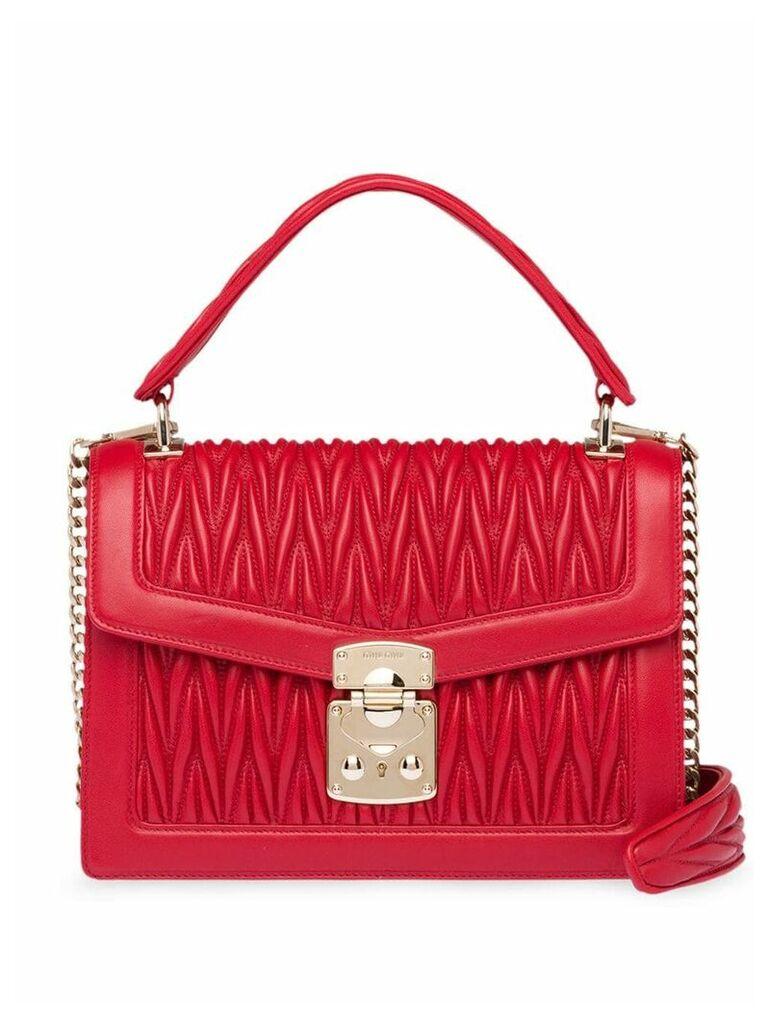 Miu Miu Miu Confidential matelassé leather bag - Red