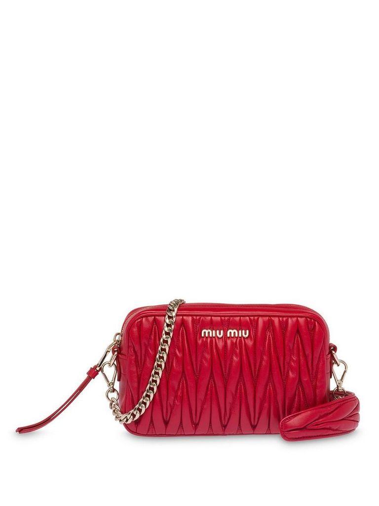 Miu Miu matelassé shoulder bag - Red