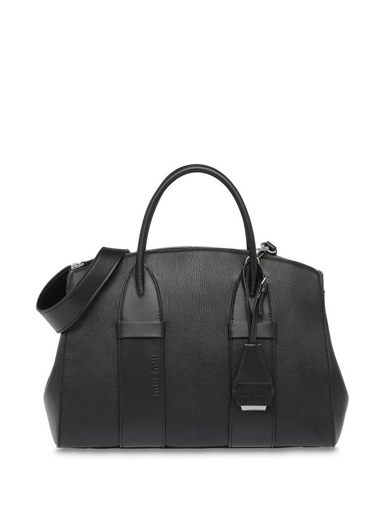 Miu Miu Madras tote bag - Black