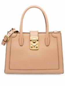 Miu Miu Miu Confidential Madras bag - Neutrals