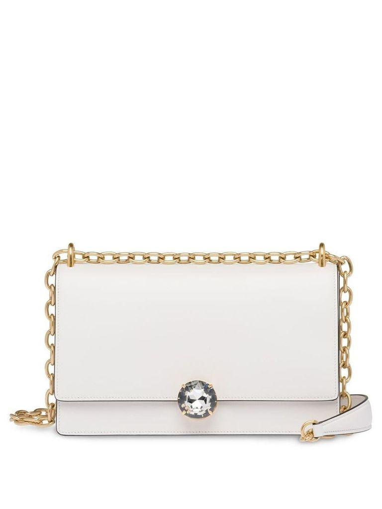Miu Miu Miu Solitaire shoulder bag - White