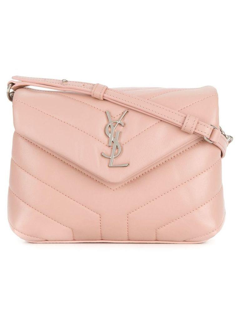 Saint Laurent quilted Monogram shoulder bag - Pink