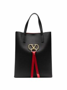 Valentino Valentino Garavani large VRING leather tote - Black
