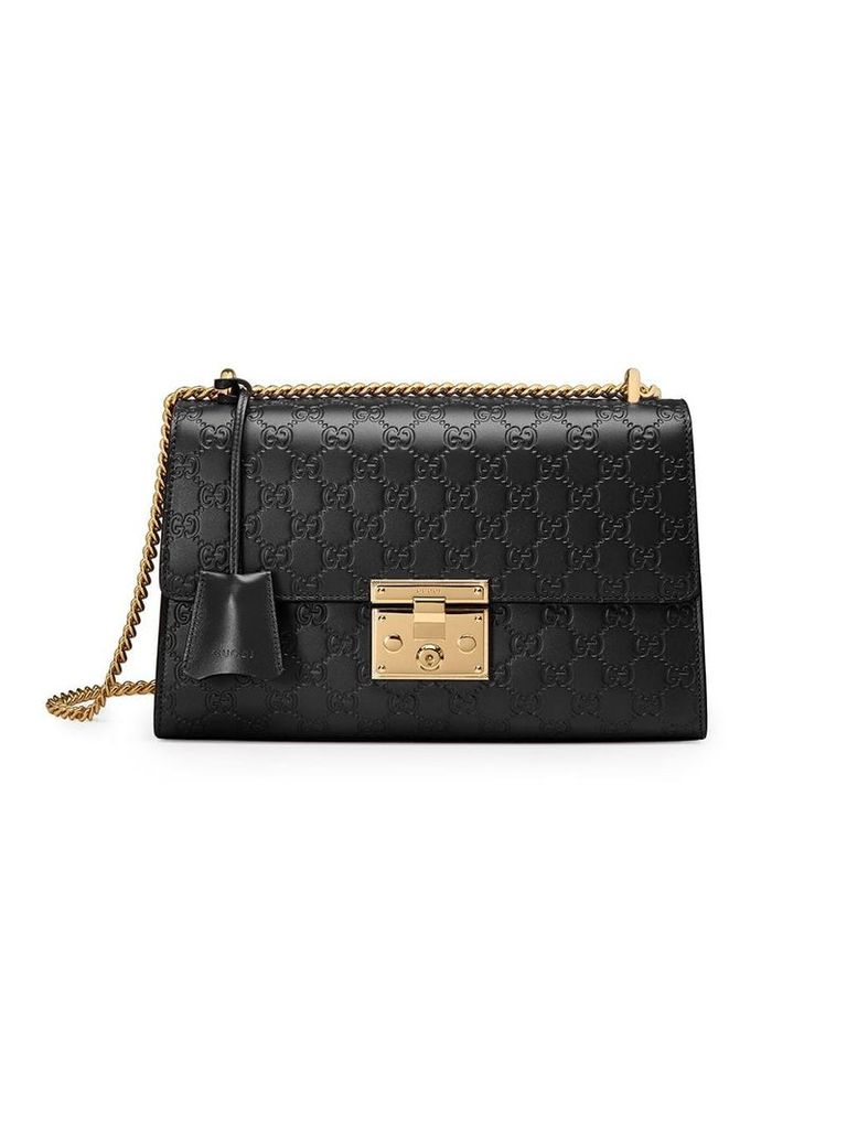 Gucci Padlock Gucci Signature shoulder bag - Black