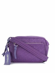 HOUSE OF HOLLAND embroidered logo crossbody bag - Purple