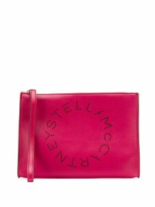 Stella McCartney Stella logo clutch - Pink
