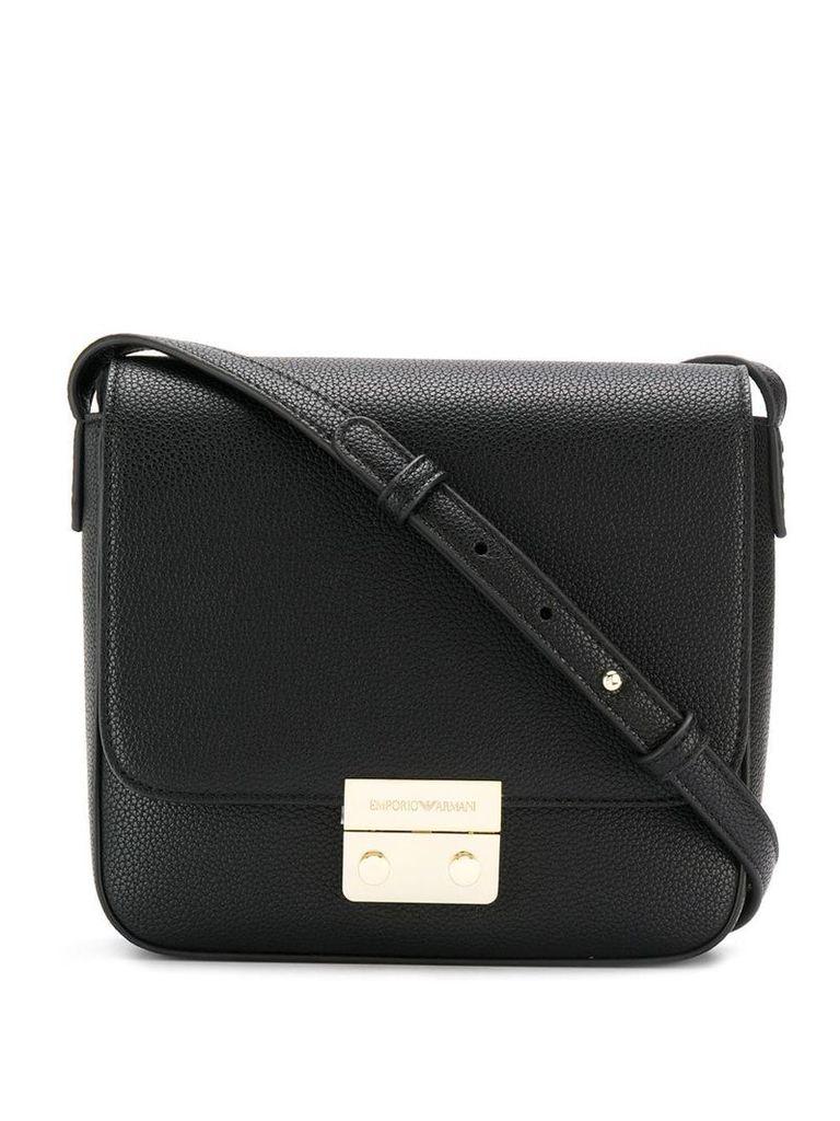 Emporio Armani logo shoulder bag - Black