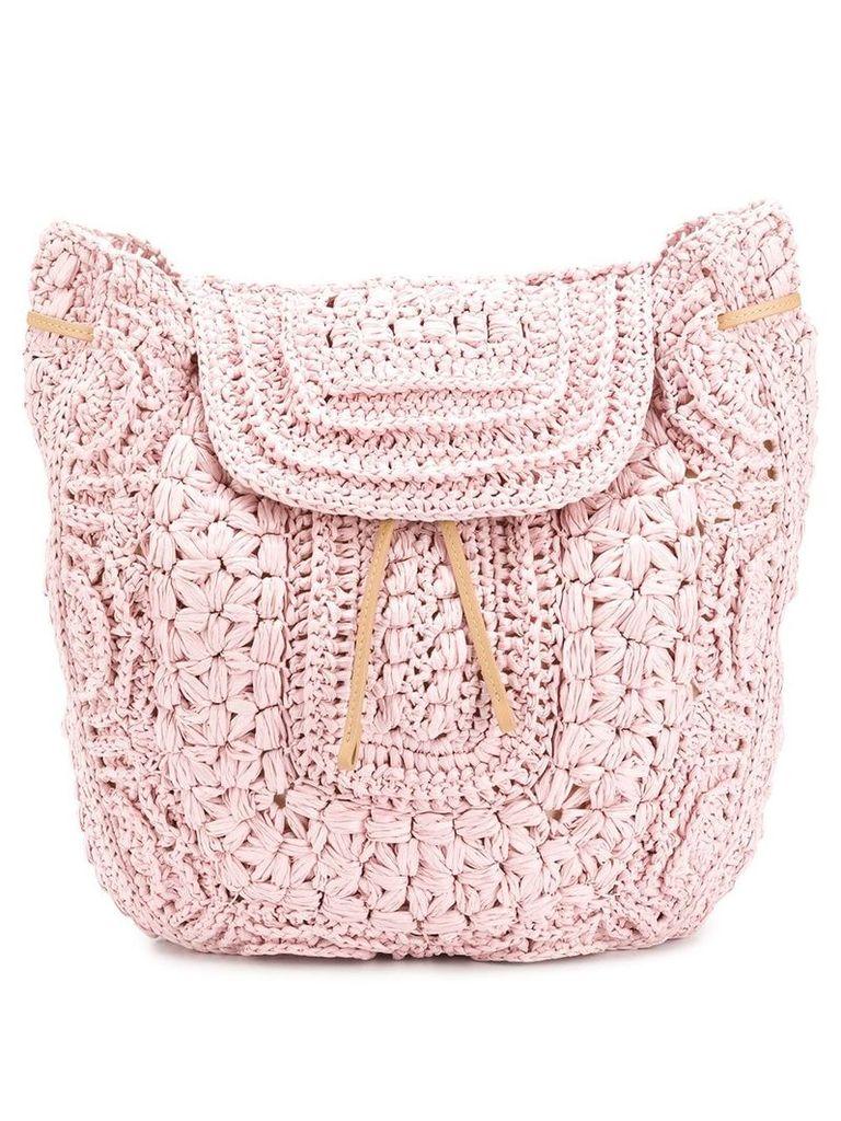 Alberta Ferretti crochet backpack - Pink