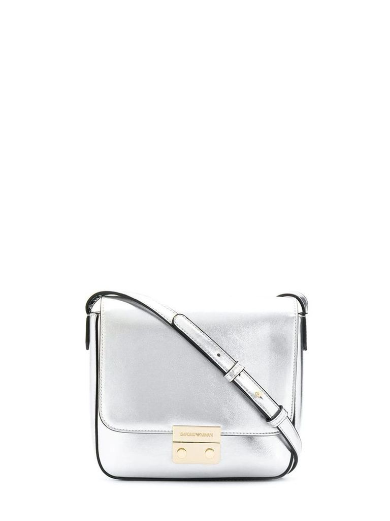 Emporio Armani brand crossbody bag - Silver